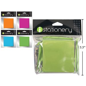 Notes autocollantes 3x3 couleurs fluo 150fls 4 couleurs