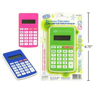 Calculatrice couleurs asst. -digit
