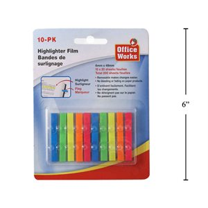 Notes autocollantes film 10x20fls 6mmx48mm ##